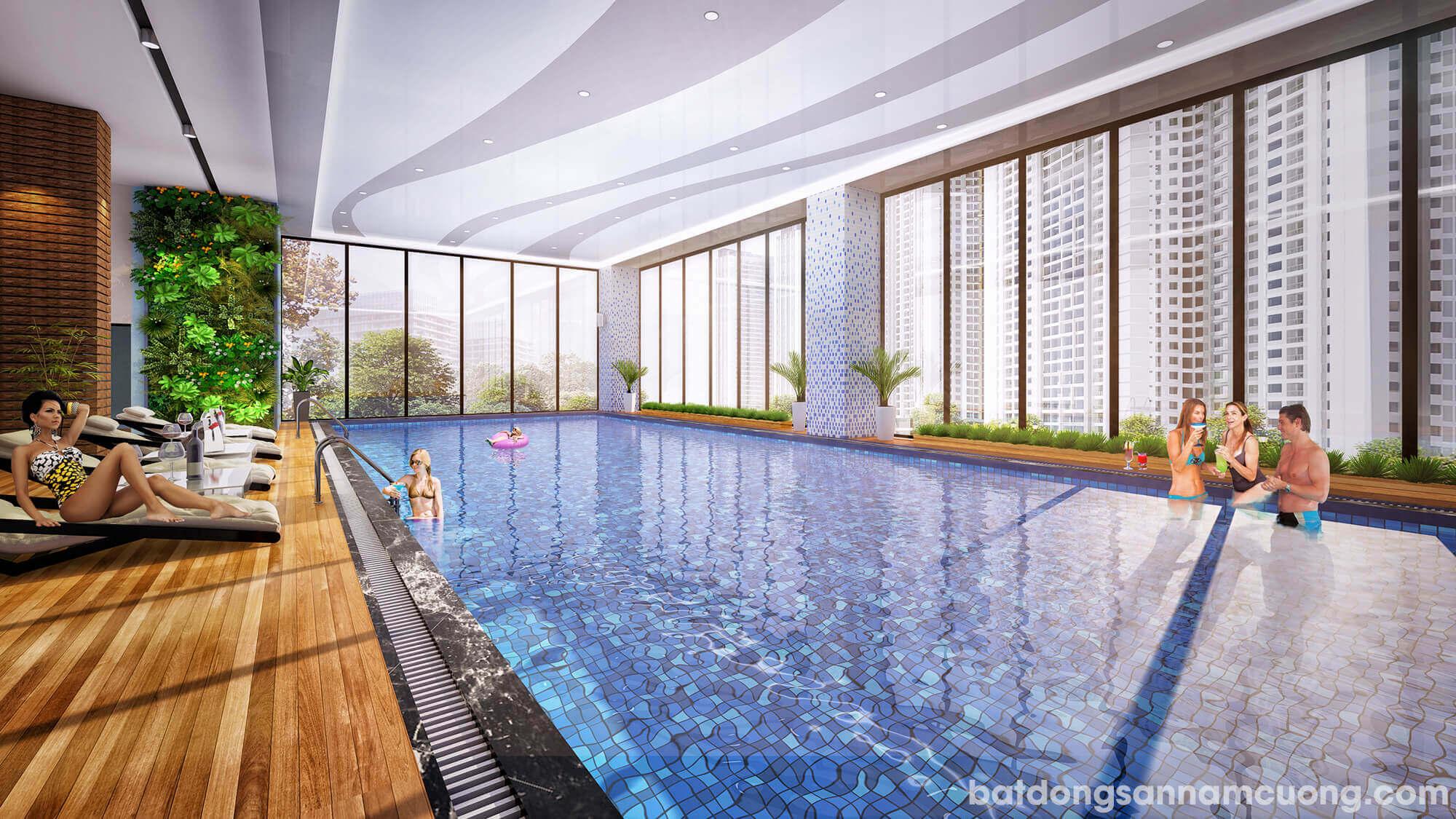 Bể bơi bốn mùa tại khu đô thị Dương Nội