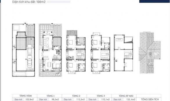 Thiết kế Biệt thự An Khang Villa mẫu SLM11