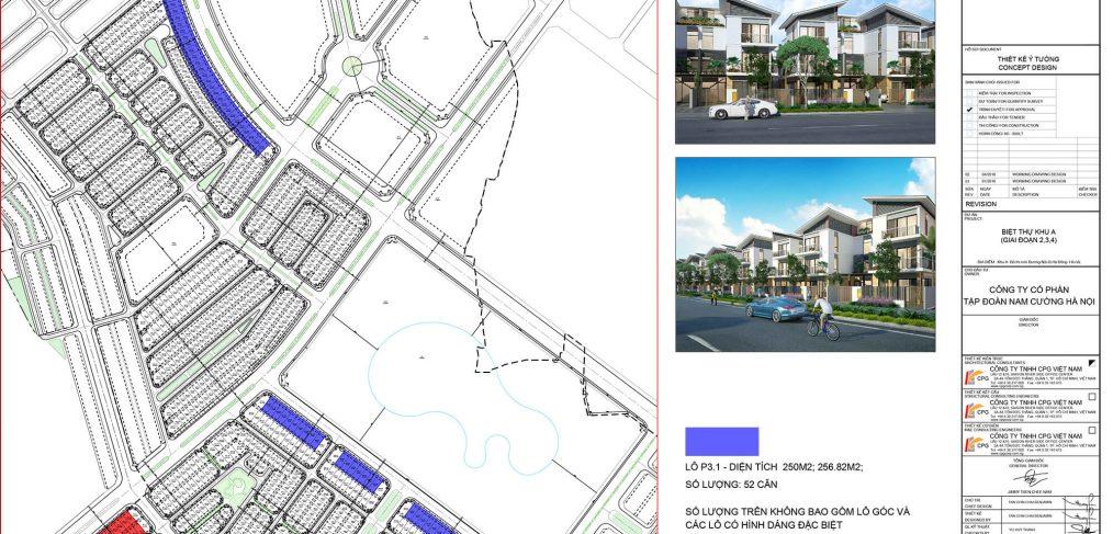 Sơ đồ phân lô biệt thự An Vượng Villa thiết kế mẫu P2-1P3-2P4-4-P5-1-37
