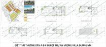 Mặt bằng thiết kế Biệt thự thường dãy A-B-C-D Biệt thự An Vượng Villa Dương Nội