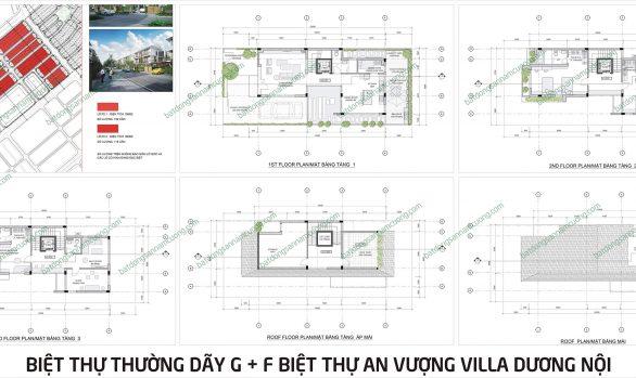 Thiết kế biệt thự An Vượng Villa lô thường