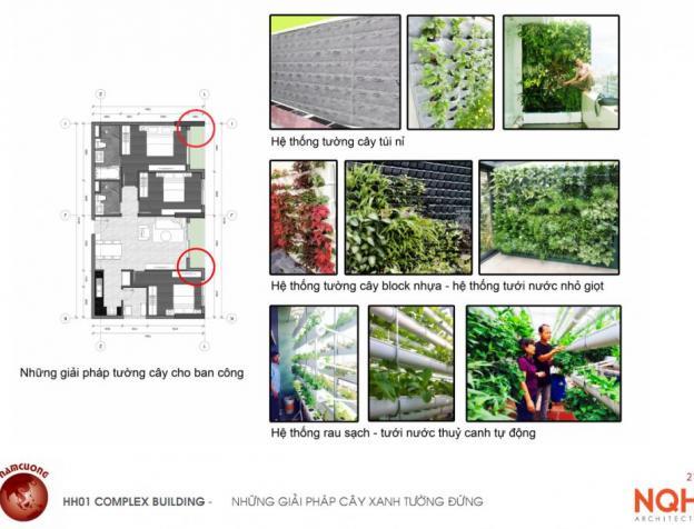 Giải pháp tường cây xanh đứng chung cư AnLand HH01 Complex Building Nam Cường