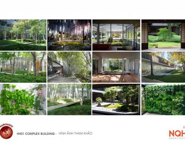 Không gian xanh tại chung cư AnLand HH01 Complex Building Nam Cường