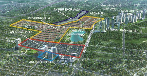 Vị trí Biệt thự, chung cư tại khu đô thị mới Dương Nội